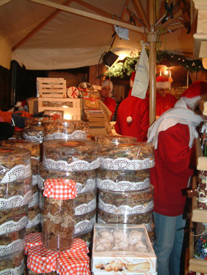 Cakes and gingerbread on sale at Cracow Christmas Market