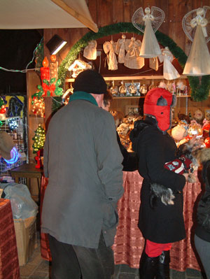 shopping for Christmas decorations at Cracow Christmas Market